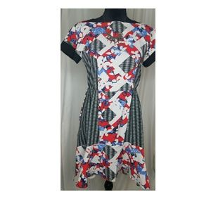 high and low dress multicolored size 2